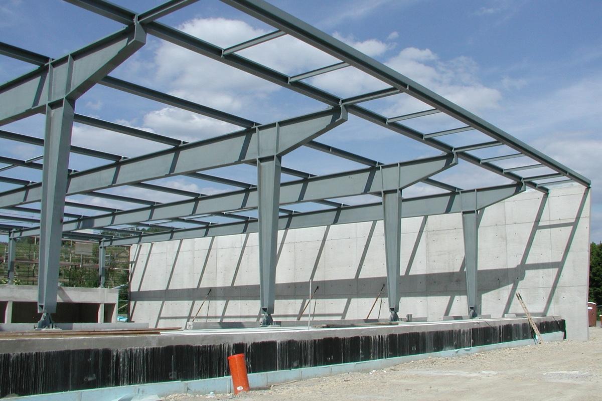 Sporthalle benningen for Stahlbau aussteifung